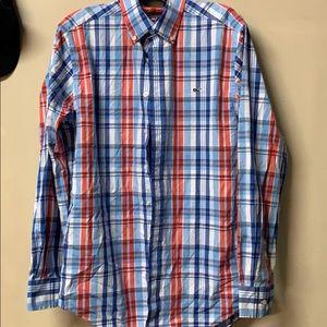Mens vineyard vines whale medium shirt